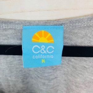C&C California Tops - C&C California solid gray tank NWOT